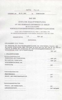 Zeugnisse Steffen Reum